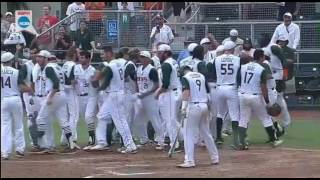 NCAA Super Regional Miami/BC Benches Clear