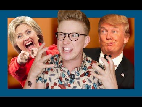 Hillary vs Trump | Tyler Oakley thumbnail