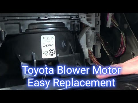 How to install replace heater ac blower fan motor toyota for 2001 corolla window motor replacement