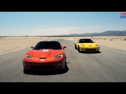 Showdown - 2013 Chevrolet Corvette ZR1 vs. 2013 Chevrolet Corvette Z06 - CAR and DRIVER