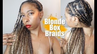 Blonde Box Braid   Natural Protective Hairstyles