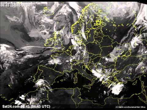 Animated Weather Satellite Images - Europe May 2011