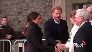 Prince Harry and Meghan Markle visit Wales