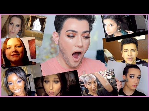 REACTING TO BEAUTY GURU'S FIRST VIDEOS!