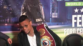 Eleider Alvarez media interview, December 8, 2018