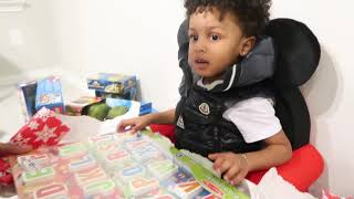 CJ OPENS HIS CHRISTMAS GIFTS WITH MOMMY & DADDY!!!