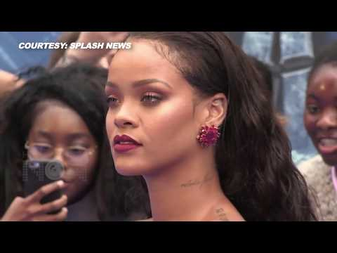 Rihanna's Boobs Nearly Pop Out In CLEAVAGE Revealing Red Dress At 'Valerian' Premiere