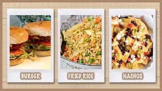 3 Comfort Food Recipes | Veggie Burger, Stir-Fried Rice, Tacos | Kreena Desai