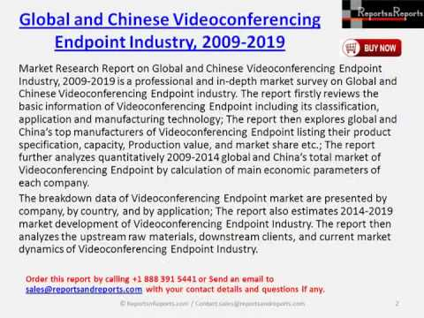 Market Report on Global & China Videoconferencing Endpoint Industry 2019