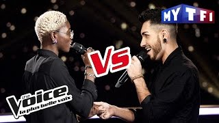 Emmy Liyana VS Dilomé - « L'aigle noir » (Barbara) | The Voice France 2017 | Battle