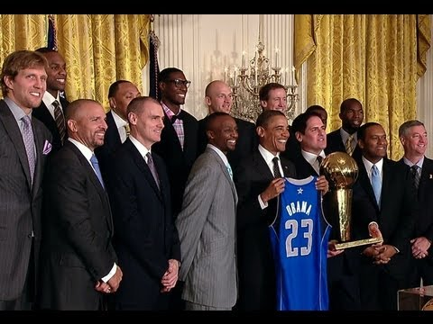 President Obama Honors the Dallas Mavericks
