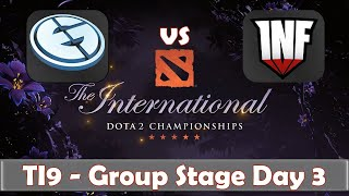EG vs Infamous | The International 2019 | Dota 2 TI9 LIVE | Group Stage Day 3