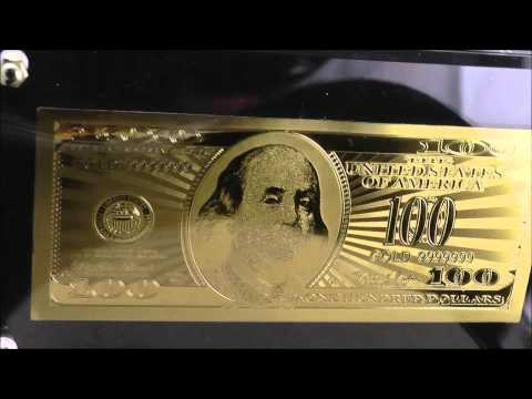 Gold Plated 100 Dollar Note