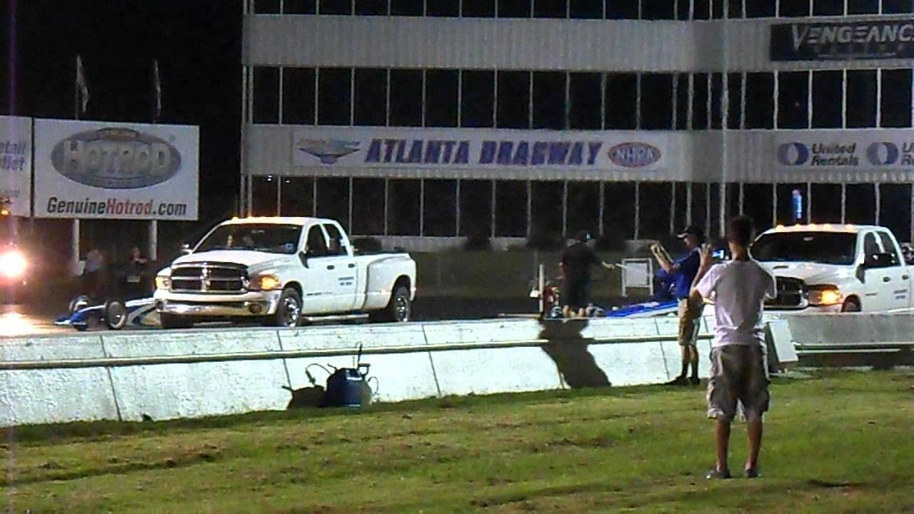 Larsen motorsports at atlanta dragway night of fire youtube for Atlanta motor speedway light show