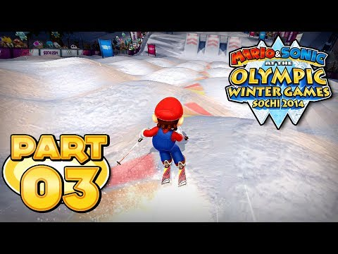 Mario and Sonic at the Sochi 2014 Olympic Winter Games - Part 03 - Freestyle Skiing Moguls