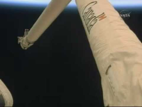 Debris in Orbit [Filmed from STS-125 Atlantis  On-board Camera]