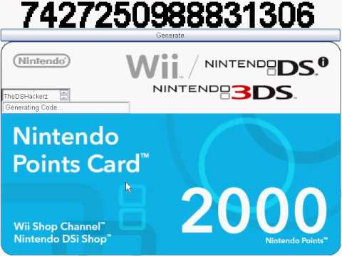 My nintendo points card generator no surveys youtube