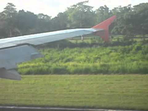 Airphil Express Landing at Puerto Princesa Airport