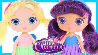 Little Charmers Posie and Lavender Dolls Play Doh Poupée Dress - DCTC Toy Videos
