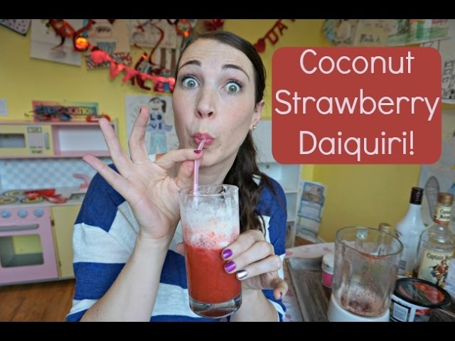 Coconut Strawberry Daiquiris! | Pinterest Drink #32 | MamaKatTV
