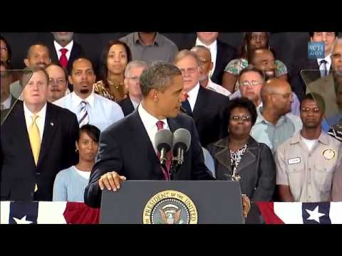 President and Mrs Obama on the American Jobs Act Bus Tour