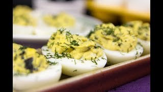 Keto Olives Blue Cheese Deviled Eggs