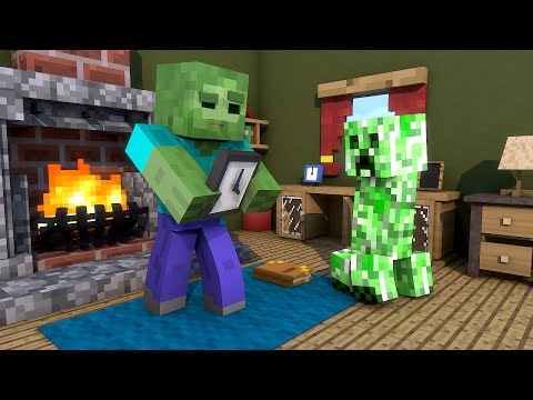 Minecraft Escola Monstro #31 - A Casa De Um Creeper  !!  Monster School video