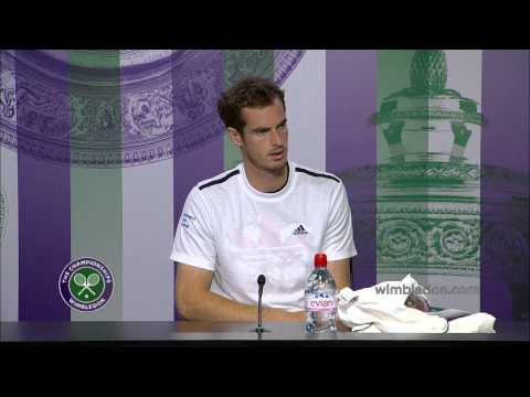 Andy Murray happy under the roof - Wimbledon 2014