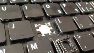 How to remove and replace a key on Acer Aspire laptop keyboard.