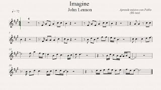IMAGINE:  Bb inst (clarinete,trompeta,saxo sop/tenor)(partitura con playback)