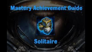 Solitaire Mastery Achievement - Starcraft 2 Wings of Liberty