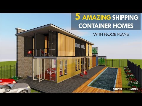 The 5 Most Amazing Shipping Container House Designs with Floor Plans | SHELTERMODE