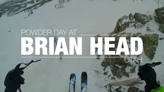 POWDER DAY AT BRIAN HEAD , UTAH