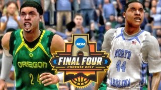 MARCH MADNESS FINAL FOUR UNC vs OREGON! College Hoops 2K8 Gameplay Ep. 1