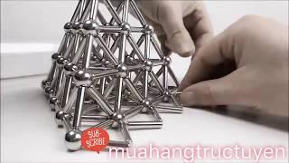 Nam châm xếp hình thông minh Buckyballs Magnetic Sticks 36 Thanh + 27 Viên