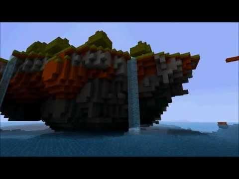 Minecraft floating island timelapse