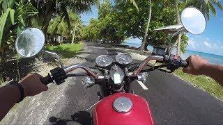 【2.7K】Funafuti island in Tuvalu : Touring by a motorcycle【GoPro】