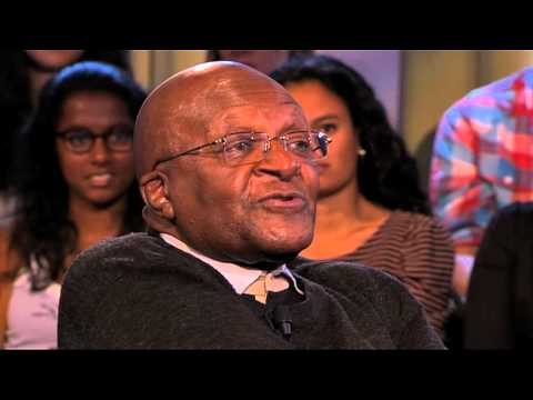 Desmond Tutu in College Tour