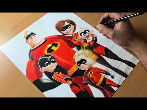 Drawing The Incredibles - Timelapse | Artology