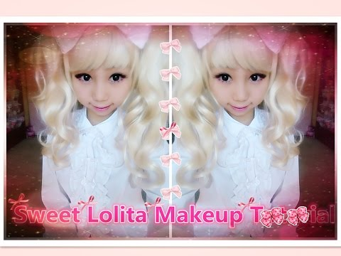 How to be Kawaii - Sweet Lolita Dolly Eye Makeup Tutorial + Hairstyle