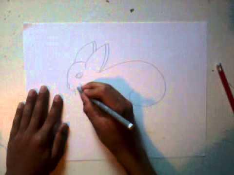 Apprendre a dessiner un lapin mignon youtube - Dessin de lapin facile ...