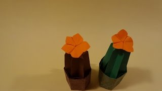 화분과 꽃 색종이 접기 - Origami Confetti Potted flowers