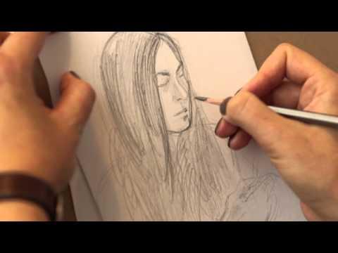 Уроки рисования портретов - видео