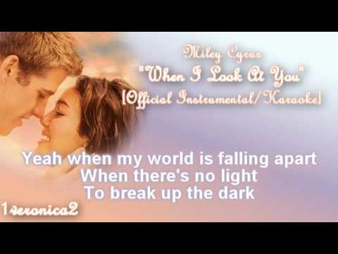 Miley Cyrus when i look at you mp3 download