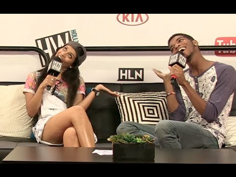 Kingsley & Superwoman (Lilly Singh) Play Silly Hot Seat Game! (VIDCON 2014)