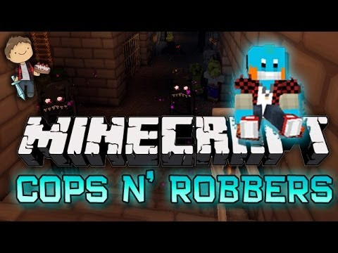 Minecraft: Cops N Robbers Halloween Special w Mitch Friends