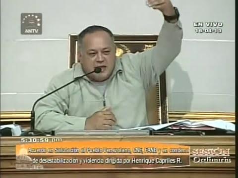 Cabello niega derecho de palabra a diputados que no reconozcan a Nicolás Maduro como Presidente