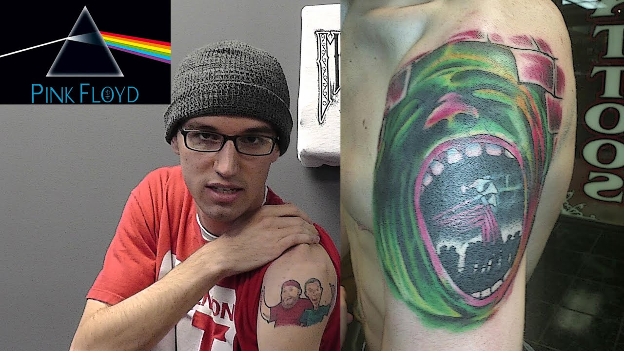 Epic pink floyd cover up tattoo youtube for Off the wall tattoo