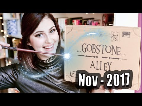 GOBSTONE ALLEY HARRY POTTER BOX UNBOXING NOVEMBER 2017 | Book Roast