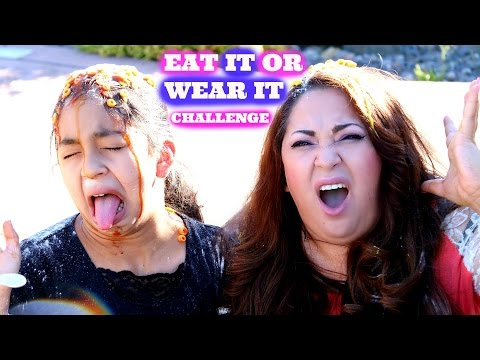 EAT IT OR WEAR IT CHALLENGE!! Crazy Messy Funny  B2cutecupcakes